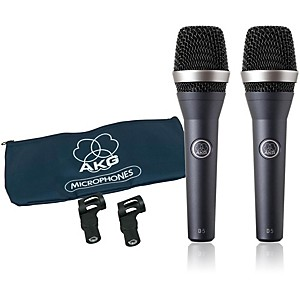 AKG D5 Supercardioid Handheld Dynamic Microphone 2 Pack by AKG