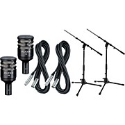 Audix D6 Kick Drum Mic with Cable and Stand 2 Pack