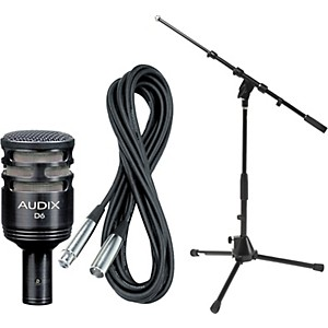 Audix D6 Kick Drum Microphone with Cable and Stand by Audix