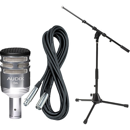 Audix D6 Limited Edition Kick Drum Mic with Cable and Stand-thumbnail