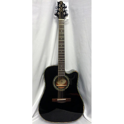 Greg Bennett Design by Samick D9CE/BK Acoustic Electric Guitar