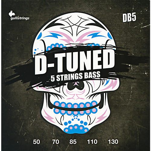 Galli Strings DB5 D-TUNED 5-String Bass Strings 50-130-thumbnail