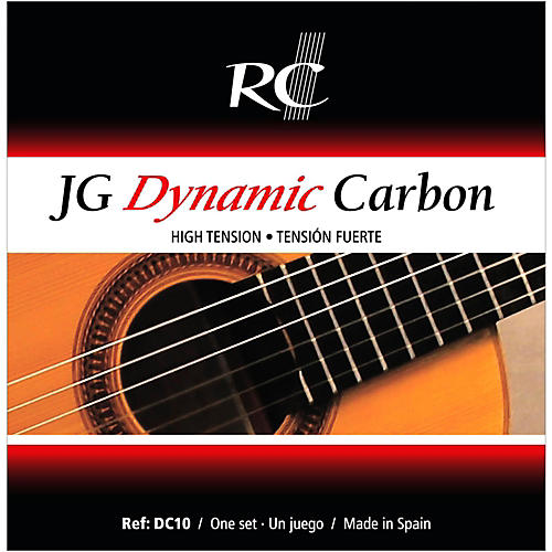 RC Strings DC10 JG Dynamic Carbon High Tension Nylon Guitar Strings with Carbon Trebles.