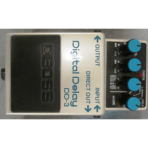 Boss DD3 Digital Delay White Effect Pedal-thumbnail