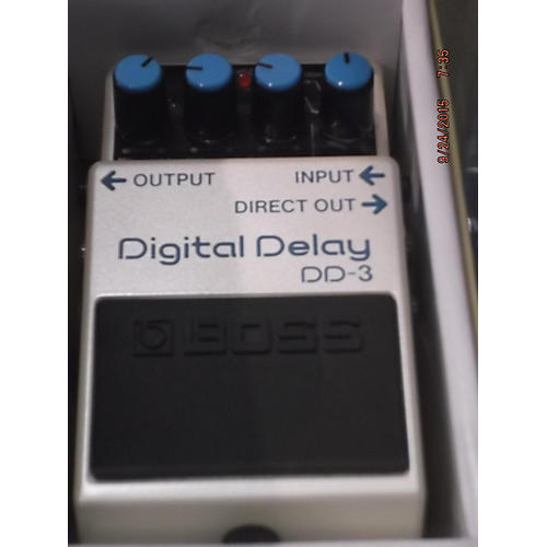 Boss DD3 Digital Delay White Effect Pedal White