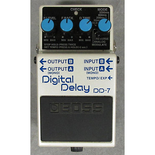 Boss DD7 Digital Delay White Effect Pedal