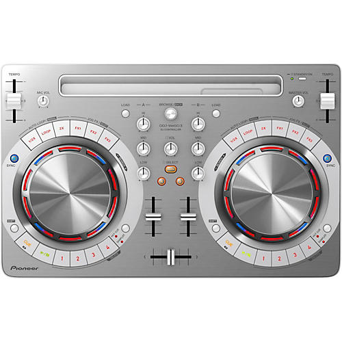 Pioneer DDJ-WEGO3 Compact DJ Controller with iOS Compatibility White
