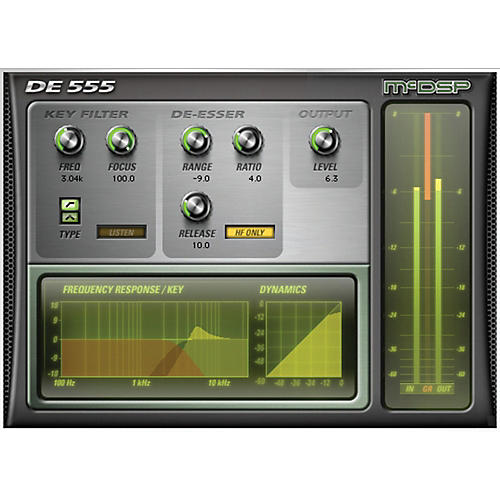 McDSP DE555 De-esser Native v6 Software Download