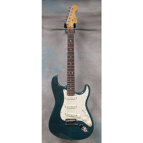 Fender DESIGNER ED AMERICAN DLX STRAT Sherwood Green Solid Body Electric Guitar-thumbnail