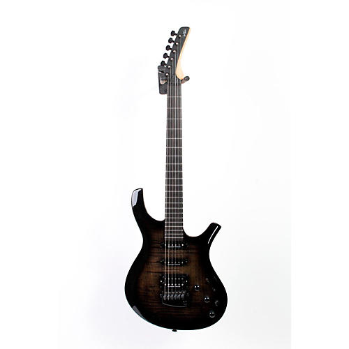 Parker Guitars DF724 Maxx Fly Flame Top w/ Seymour Duncans and Fishman Piezo Electric Guitar Black Burst 888365397474