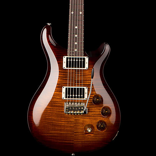 PRS DGT Flame Top Electric Guitar with Moon Inlays Black Gold Burst