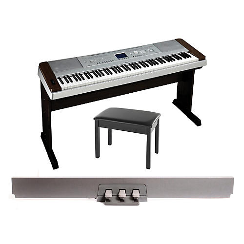 Yamaha DGX-640 88-Key Digital Piano Walnut with BB1 Padded Bench & LP-7 Pedal Unit-thumbnail