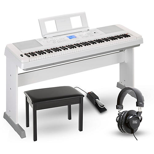 yamaha dgx 660 88 key portable grand piano package white home package guitar center. Black Bedroom Furniture Sets. Home Design Ideas