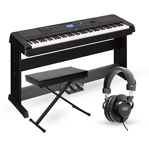 yamaha dgx660 88 key portable grand piano packages guitar center. Black Bedroom Furniture Sets. Home Design Ideas