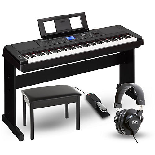 yamaha dgx660 88 key portable grand piano packages black. Black Bedroom Furniture Sets. Home Design Ideas