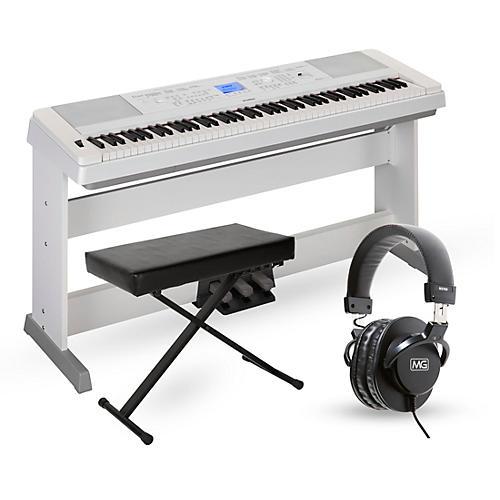 Yamaha dgx660 88 key portable grand piano packages white for Yamaha 88 keyboard