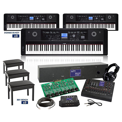Yamaha DGX660 88-key Grand LC4 Keyboard Lab