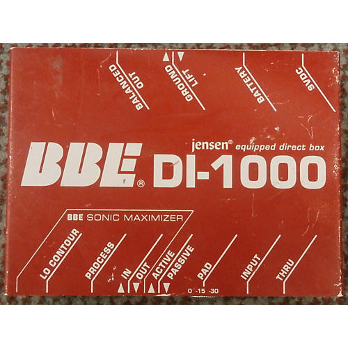 BBE DI1000 Active/Passive Direct Box-thumbnail