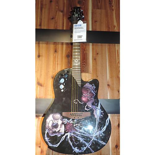 Ovation DJA34BY DJ Ashba Boneyard Acoustic Electric Guitar