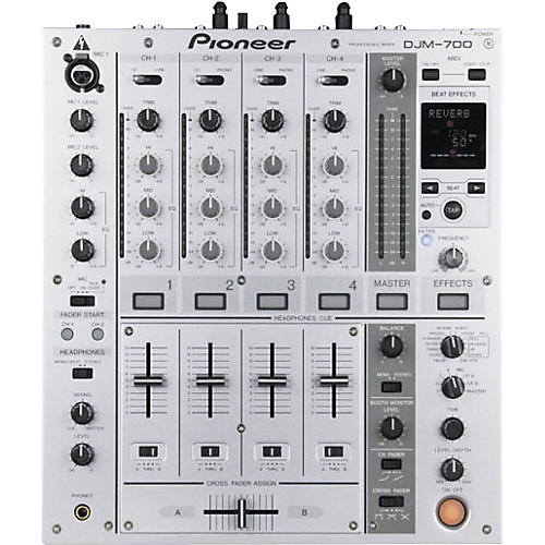 Pioneer DJM-700 4-Channel Digital DJ mixer with Effects Silver