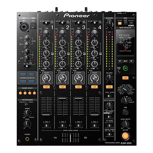 Pioneer DJM-850 4-Channel Professional DJ Mixer Black