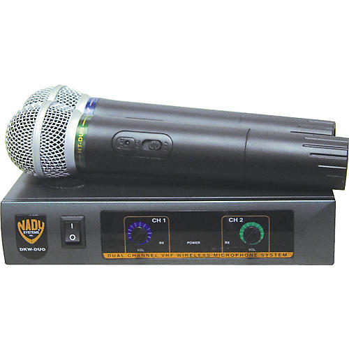 Nady DKW-Duo Dual Channel VHF Handheld Microphone System-thumbnail