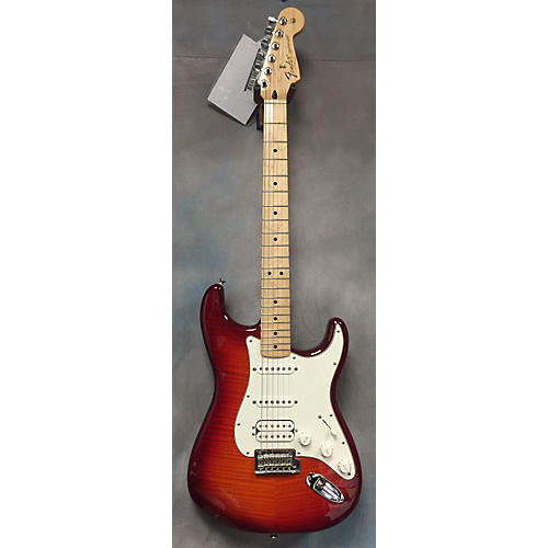 Fender DLX HSS PLUS TOP IOS Cherry Sunburst Solid Body Electric Guitar-thumbnail
