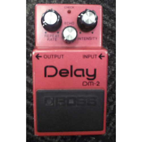 Boss DM-2 DELAY MIJ Flat Red Effect Pedal Flat Red