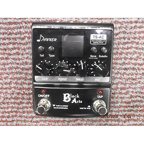 In Store Used DONNER DIGITAL DELAY Black Effect Pedal Black