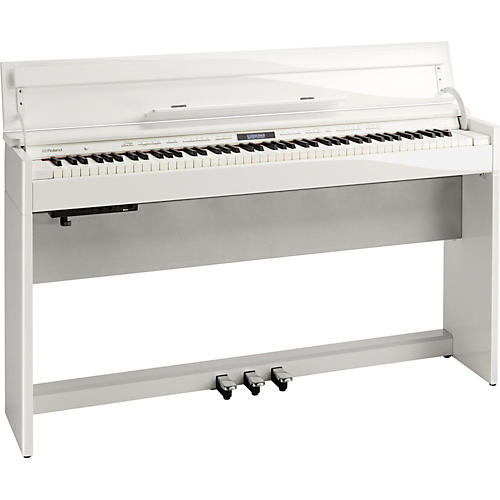Roland Dp603 Digital Home Piano With Bench Polished White Guitar Center