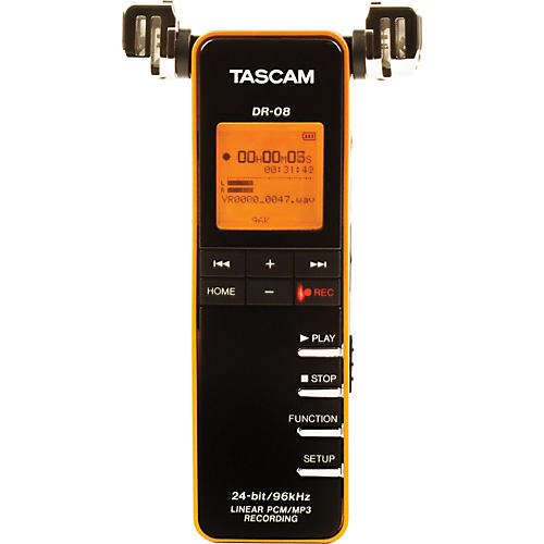 Tascam DR-08 Linear PCM/MP3 Recorder Black