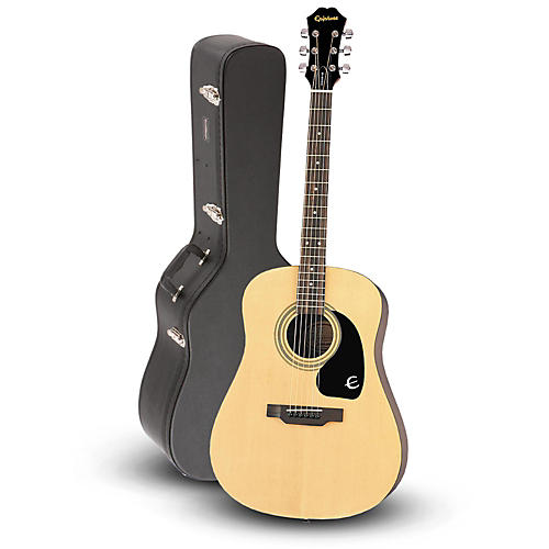 Epiphone DR-100 Acoustic Guitar Natural with Road Runner RRDWA Case-thumbnail