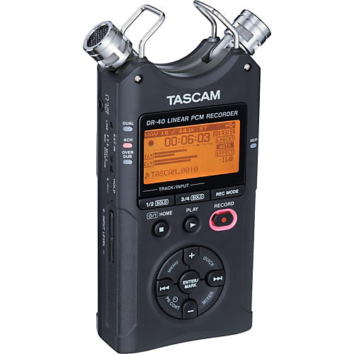 Tascam DR-40 Portable Digital Recorder-thumbnail