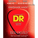DR Strings RED DEVILS Red Coated Medium 5-String Bass Strings (45-125)