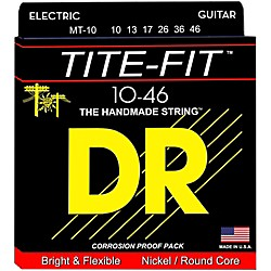 DR Strings Tite-Fit MT-10 Medium-Tite Nickel Plated Electric Guitar Strings (MT-10)