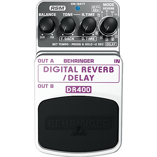 Behringer DR400 Digital Reverb/Delay Effects Pedal