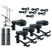 DRDK7 7-Piece Drum Mic Kit Cable and Stand Package