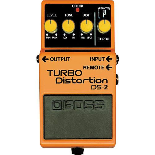 Boss DS-2 Turbo Distortion Pedal with Remote Jack-thumbnail