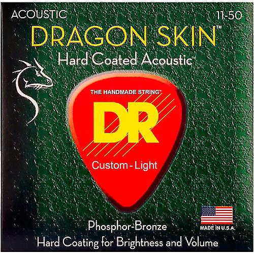 DR Strings DSA-11 Dragon Skin K3 Coated Acoustic Strings Medium-Light