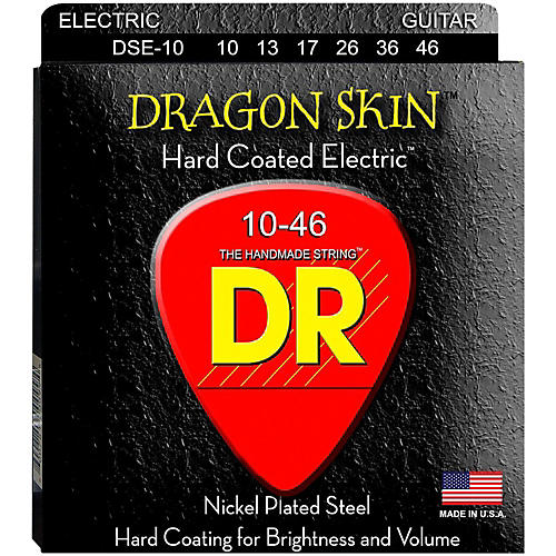 DR Strings DSE-10 Dragon Skin Coated Medium Electric Guitar Strings