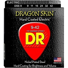 DR Strings DSE-9 Dragon Skin Coated Light Electric Guitar Strings