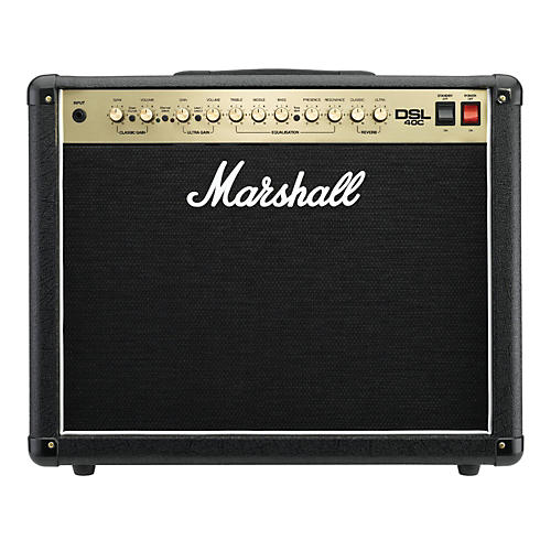 Marshall DSL40C 40W All-Tube 1x12 Guitar Combo Amp Black