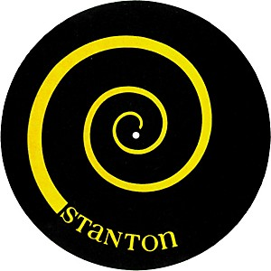 Stanton DSM-6 Yellow on Black Slipmats with Scratch Discs by Stanton
