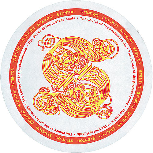 Stanton DSM-7 Gold S Logo Slipmats with Scratch Discs