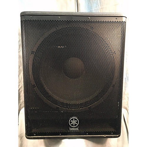 Used yamaha dsr118w powered subwoofer guitar center for Subwoofer yamaha dsr118w