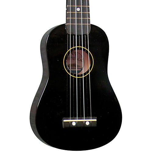 Diamond Head DU-10 Soprano Ukulele Black Black Fingerboard