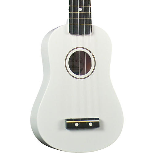 Diamond Head DU-10 Soprano Ukulele White Black Fingerboard