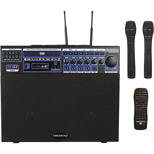 VocoPro DVD-Soundman Portable 4-Channel System with 2 Wireless Mics