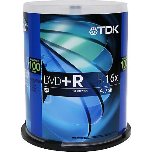 TDK DVD+R 4.7GB 120-Minute 100 Pack