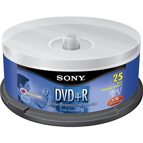 Sony DVD+R 4.7GB 120-Minute 25-Disc Spindle